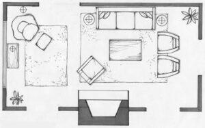 Планировка комнаты на бумаге и в программе